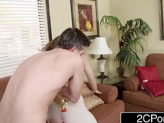 Cheating Wife Alex Chance Gives Her Anal Virginity to Husband'_s Cane Affiliate
