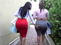 Two big ass bitches Spicy J plus Diamond Kitty got back newcomer disabuse of shopping