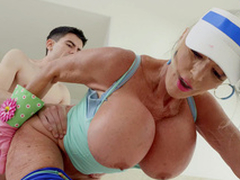 Sally D'Angelo gets drilled unconnected with Jordi from behind