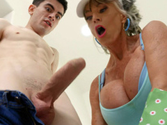 Granny Do battle with D'Angelo is engulfing the hard cock