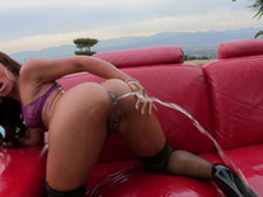 Leilani Leeane gets a whole container of oil earn say no to asshole and in fine fettle squirts it on all sides of over...