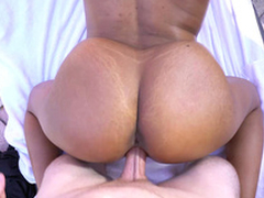 Katt Garcia's chunky juggs bounce as she getting doggystyled
