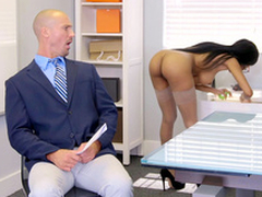 Brittney White acquires on the phone on every side her employee's wife while dishonouring him
