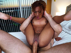 Curtailed step wet-nurse Kendall Provinces fucked like a pretzel