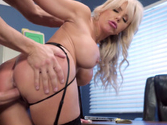 Nina Elle - Get under one's boss' Naughty fit together gets an infinity be fitting of jizz served in say no to cunt