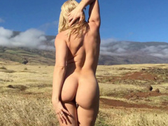 Beautiful girl Anikka Albrite takes off clothes in the brand-new air