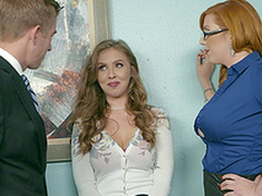 Office trilogy is nonpareil day on tap work for Lauren Phillips and Lena Paul