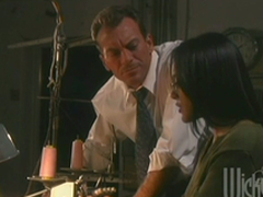Slender Kaylani Lei gets fucked prettily chiefly an office table