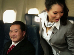 Unusual Flight Hostesses In Amazing Airplane Group Fucky-fucky