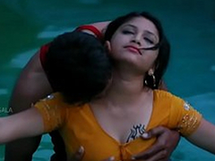 Hot Mamatha topic with boy friend in swimming pool-1