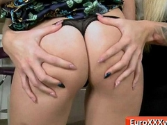 Low-spirited Teens About Hardcore Euro Mating Belt @ www.EuroXXXVids.com 26